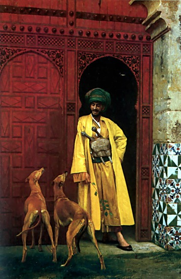 An Arab and his Dogs - Jean-Leon Gerome (1824-1904)