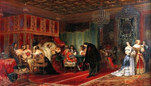 [Image: Cardinal Mazarin Dying - Paul Delaroche (1797-1856)]